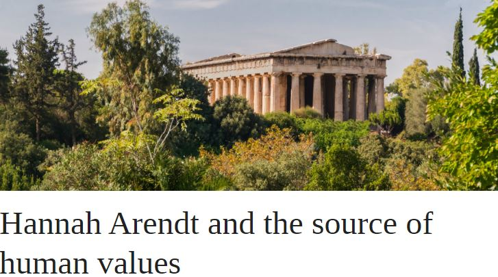 Hannah Arendt and the source of human values | OUPblog