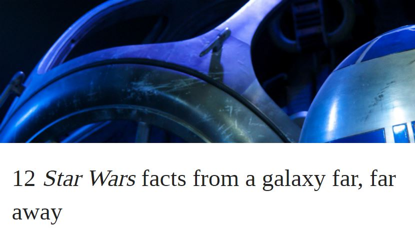 12 Star Wars facts from a galaxy far, far away | OUPblog