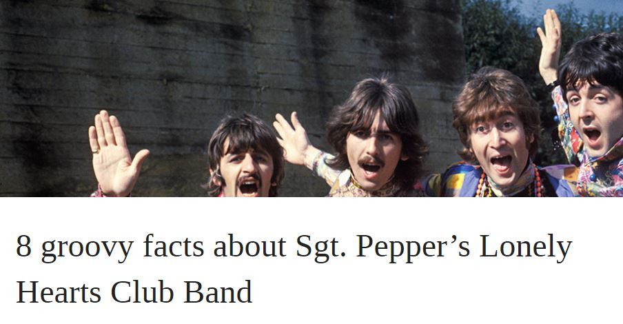 8 groovy facts about Sgt. Pepper's Lonely Hearts Club Band | OUPblog
